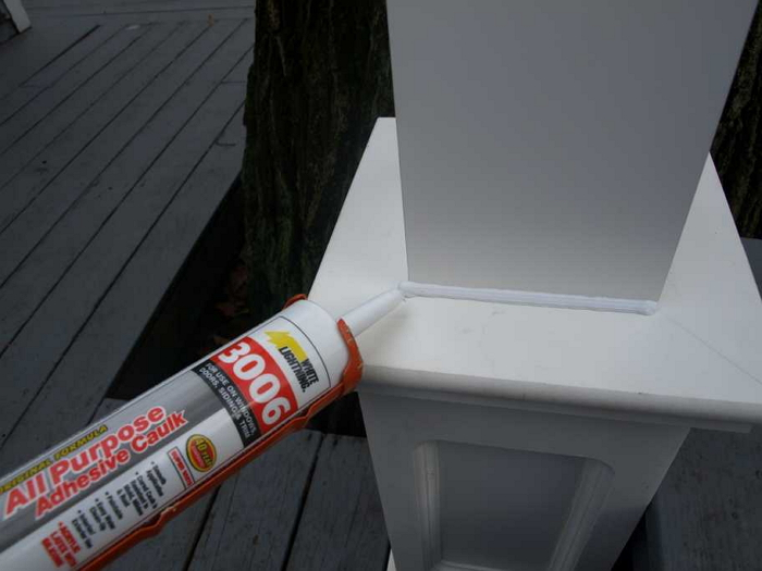 Caulking Lantern Post Base