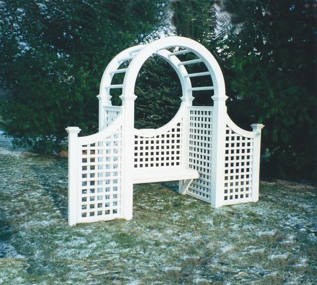 Unique Arbor Gate: Wooden Cedar Garden Arbor Made Out Of Western Red Cedar