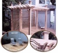 Custom Made Wooden Cedar Pergola Kits