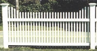 Scalloped Pyramid Picket Fence