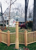 Fluted 6x6x8' Natural Cedar Lantern Post