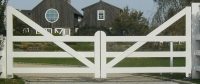 Country Style Wooden Entry Gate