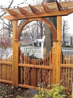 Pyramid Picket Design Arbor Entry Gate
