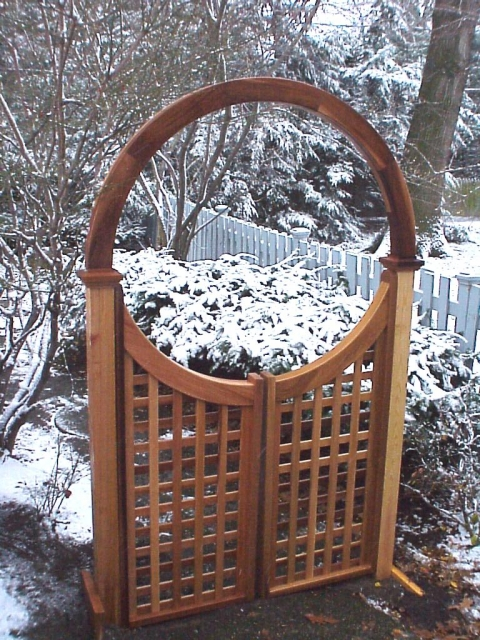 Wooden Garden Arbor Gate Custom Made By New England Woodworks