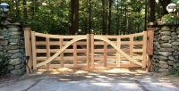 Country Style Unique Wooden Driveway Gate