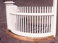 Radius Rails for Wooden Picket Fence