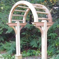 Wooden Arbors And Arbor Gates Custom Made Out Of Western Red Cedar   New  England Woodworks