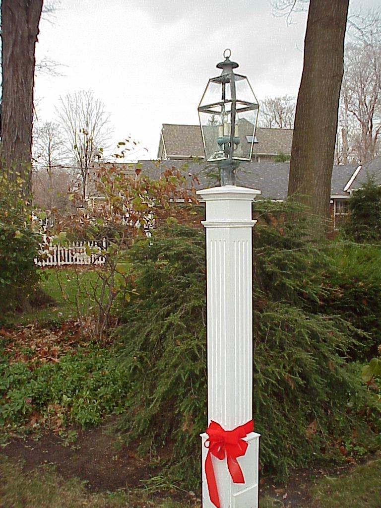 8X8 Cedar Fluted Lantern Post by New England Woodworks