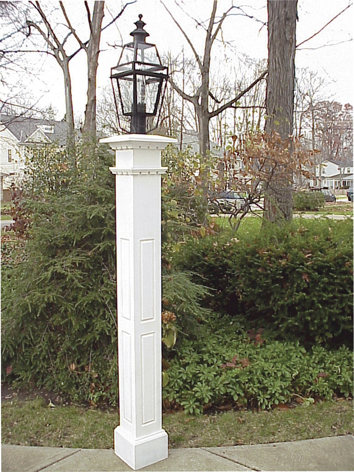 8X8 Raised Panel Lantern Post by New England Woodworks