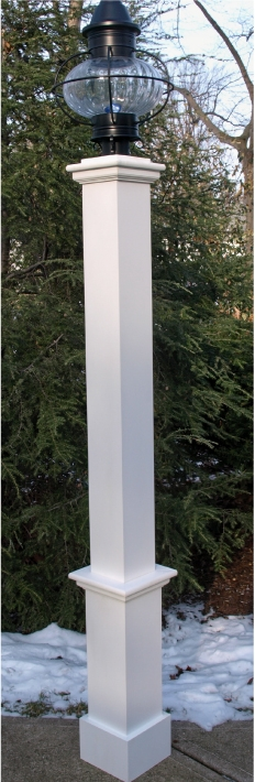 "Azek Lantern Post with 24"" Plain Base"