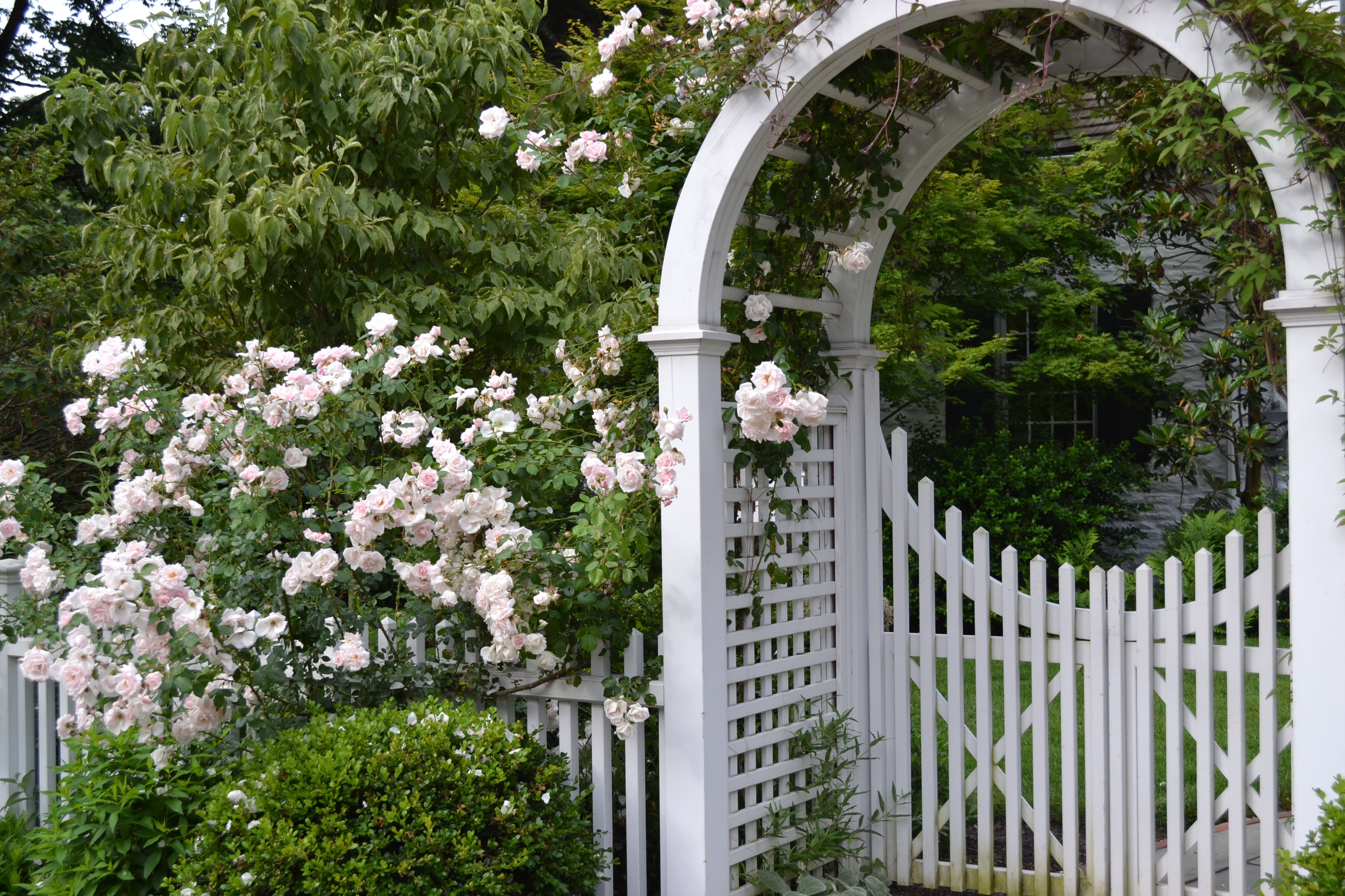 Wooden garden arbors custom made by new england woodworks