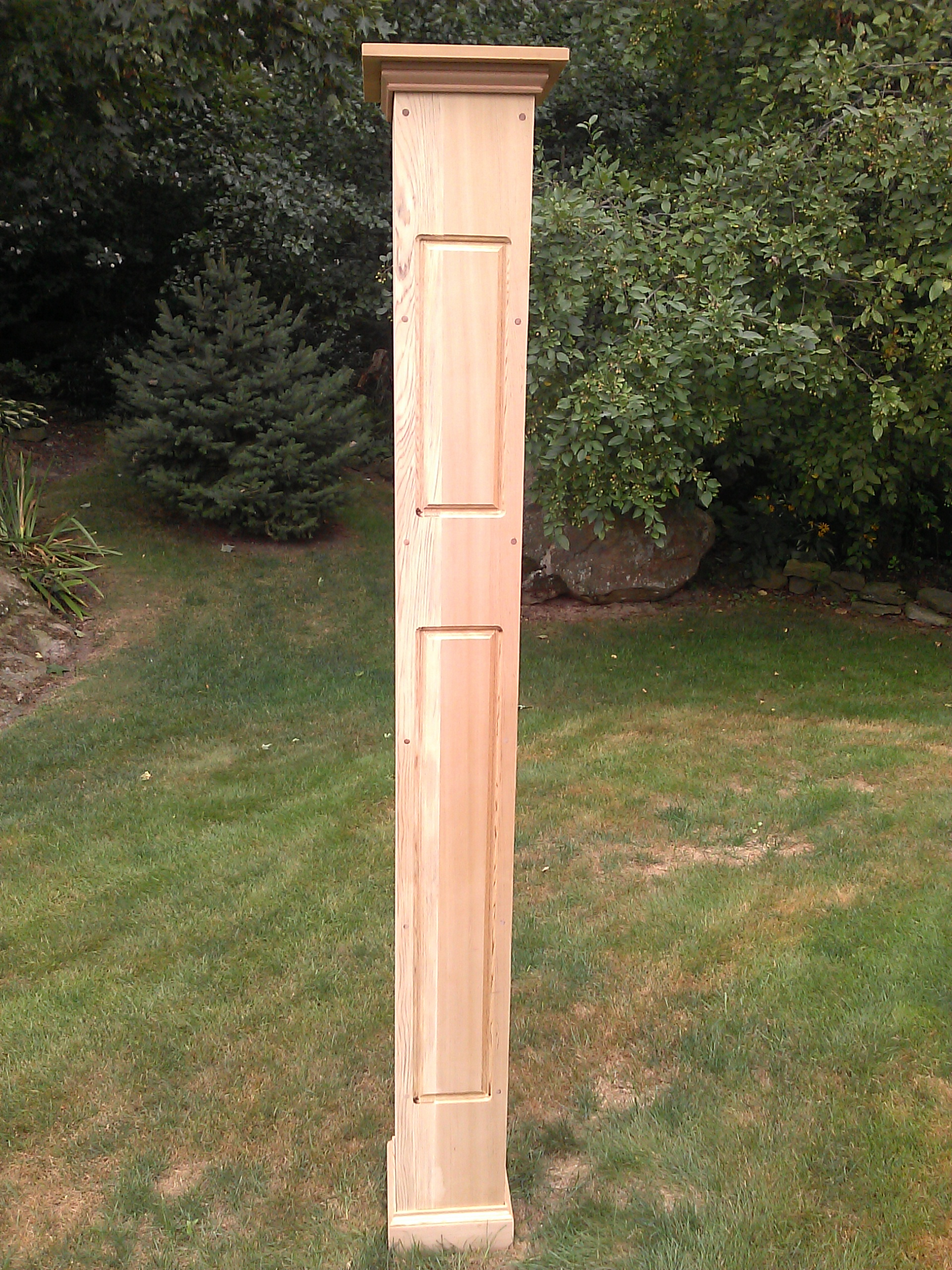 Routed Raised Panel Lantern Post