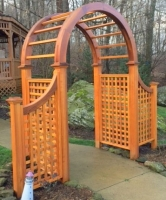 Symmetrical Natural Cedar Arbor with optional wings