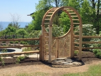 Silhouette Arbor with Spindle Gate