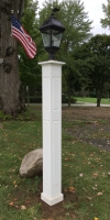"All Azek 8x8x72"" Raised Panel Lantern Post Sleeve"