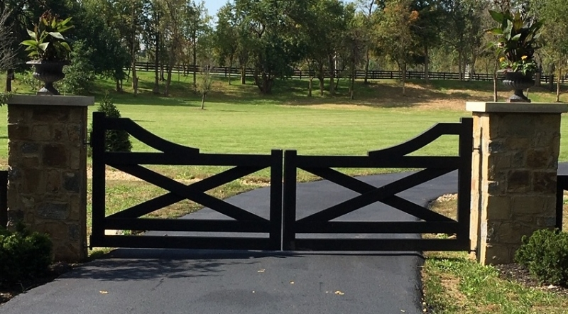 Unique variation of a Country Style Rail Gate