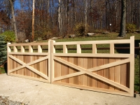 Customer Designed Wooden Cedar Entry Gate