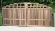 South Hampton Convex Wooden Driveway Gate (A)