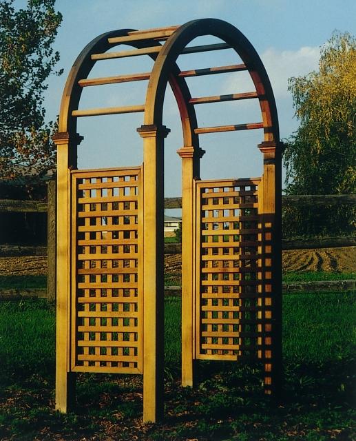 Unique Arbor Gate: Custom Made Wooden Cedar Arbors By New England Woodworks