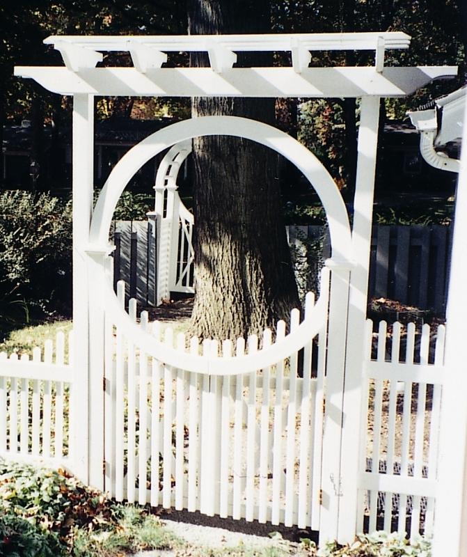Fence Gate Arbor: Wooden Cedar Arbor Made Out Of Western Red Cedar