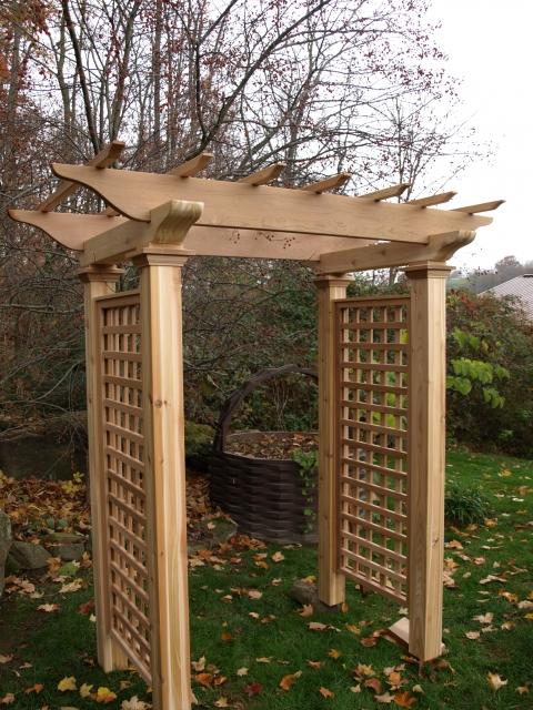 Wooden Cedar Garden Arbor By New England Woodworks