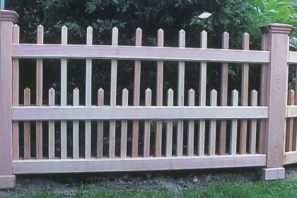 Staggered Pyramid Picket Fence
