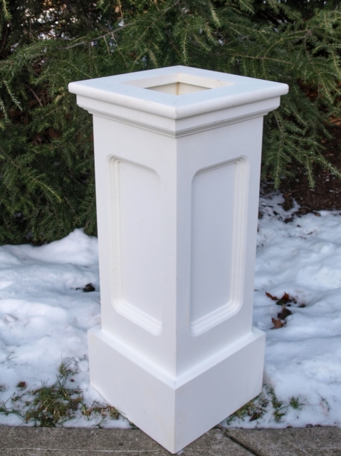 Azek Cellular PVC Lantern Post Sleeve by New England Woodworks