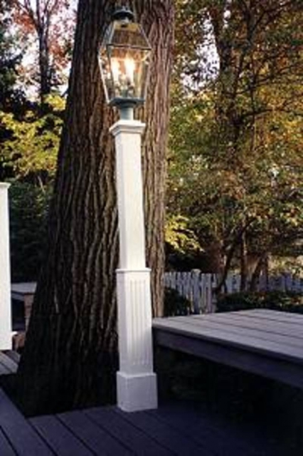 Finial Lantern Post with Fluted or Raised Panel Base