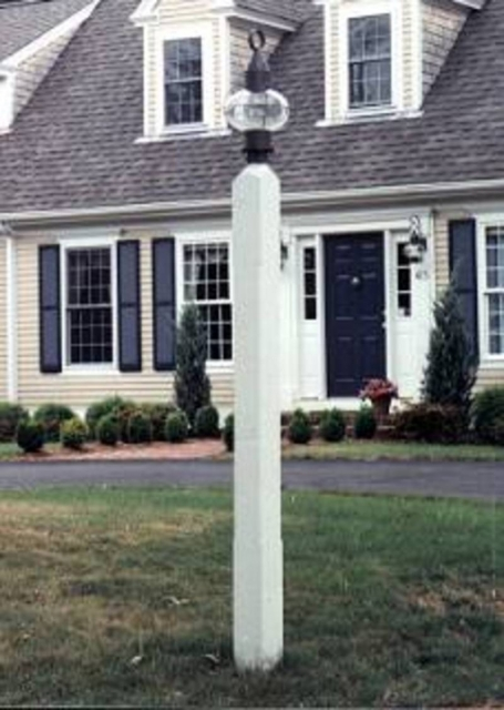 Wooden lantern posts custom made by new england woodworks square 5x5x8 lantern post aloadofball Images