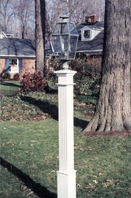 Fluted Lantern Post