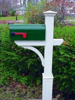 "New Englander Mail Box Post with 18"" Raised Panel Base"
