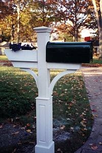 "Gardener Mail Box Post with 18"" Raised Panel Base"