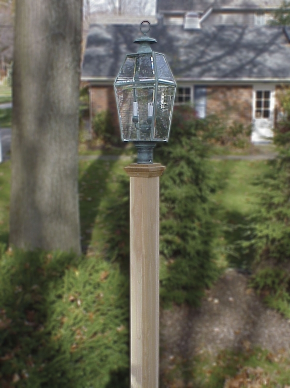 wooden lamp post wooden lantern posts custom made by new woodworks 1175