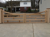 Country Style Custom Wooden Gate made from customer's drawing