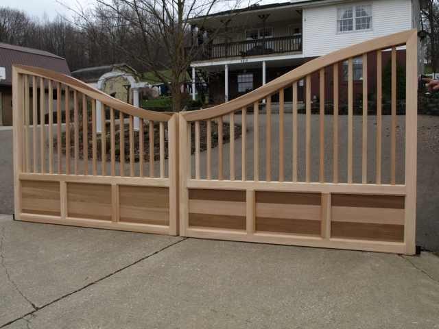 Wooden Driveway Gate Custom Made Out Of Western Red Cedar