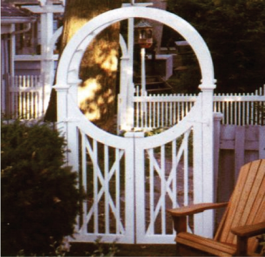 Unique Arbor Gate: Wooden Garden Arbor Gate Custom Made By New England Woodworks