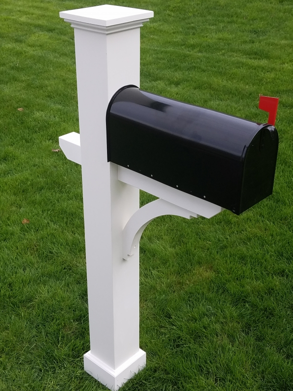 All AZEK Mailbox Post Sleeve Kit with base trim