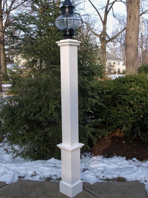 Azek Cellular PVC Lantern Post Sleeve by New England Woodworks