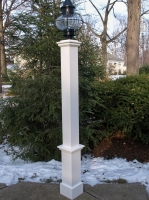 "All Azek 72"" Lantern Post Sleeve with Plain Base"