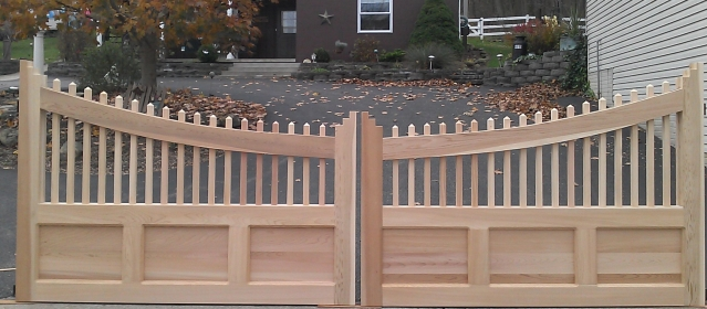 Custom Wooden Driveway Gate created from photo