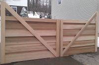 Architect's Design for Custom Cedar Entry Gate
