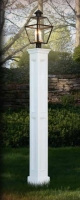 "All Azek 76"" Genuine Recessed Panel Lantern Post Sleeve"
