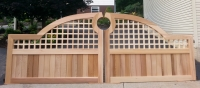 Unique Estate Convex Wooden Driveway Gate